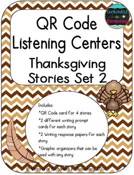 QR Code Listening Centers: Thanksgiving Stories Set 2