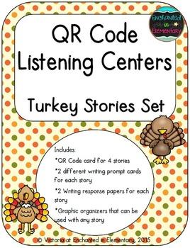 QR Code Listening Centers: Turkey Stories Set