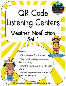 QR Code Listening Centers: Weather Nonfiction Set 1