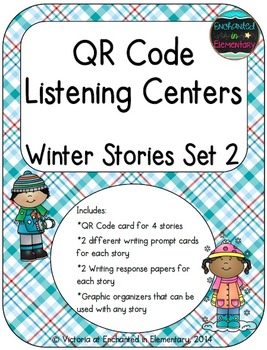 QR Code Listening Centers: Winter Stories Set 2