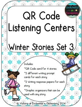 QR Code Listening Centers: Winter Stories Set 3