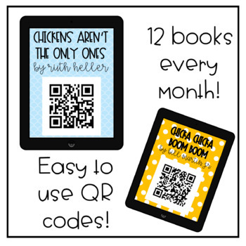 QR Code Listening Centers for the Whole Year (Money Saving Bundle!)