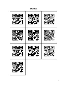 QR Code Listening and Memory Cards