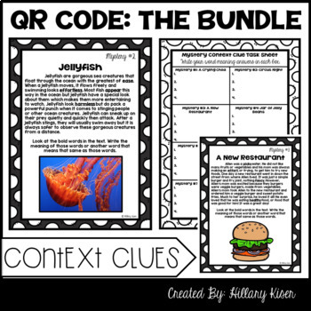 QR Code Literacy Activities (The Bundle: 3rd and 4th Grade)