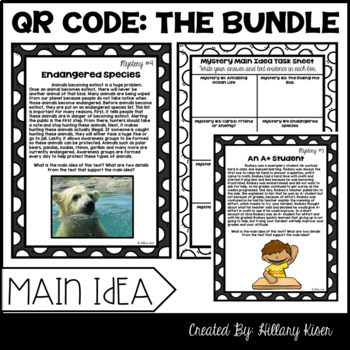 QR Code Literacy Activities (The Bundle: 5th and 6th Grade)