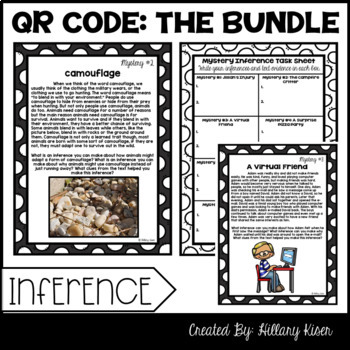 QR Code Literacy Activities: 5th and 6th Grade Bundle