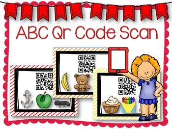 QR Code Literacy Center & Write the Room Activity: ABC Sounds