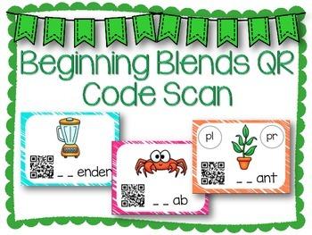 QR Code Literacy Center & Write the Room Activity: Beginning Blends
