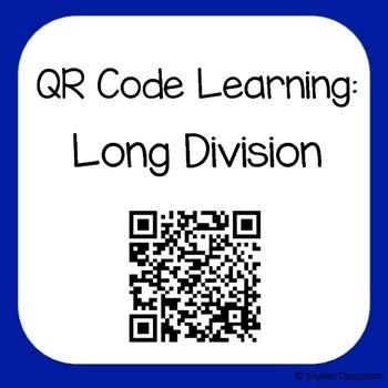 QR Code Long Division