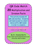 QR Code Match - Multiplication and Division Facts