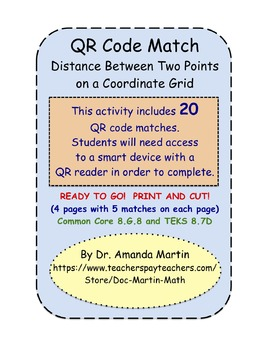 QR Code Match - The Distance Between Two Points on a Coord