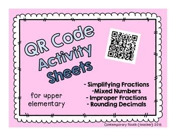 QR Code Math Activities (fractions and decimals)