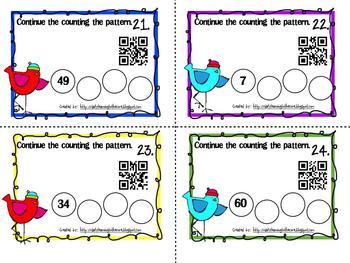 QR Code Counting to 100 and 120