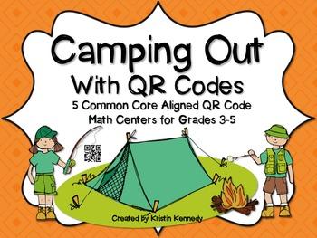 QR Code Math Center Bundle: 5 Packs at 20% Discount {25 Centers Total}