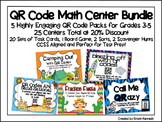 QR Code Math Center Bundle: 5 Packs at 20% Discount {25 Ce