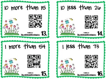 QR Code 10 More/Less, 1 More/Less