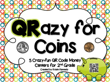QR Code Math Centers Bundle for Grades 1 & 2