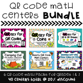 QR Code Math Centers Bundle for Grades 1 & 2