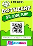 QR Code Math Fun Bottle Caps - FREE