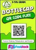QR Code Math Fun Bottle Caps - FREE