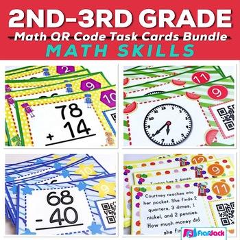 QR Code Math Fun Bundle (2nd-3rd Grade)