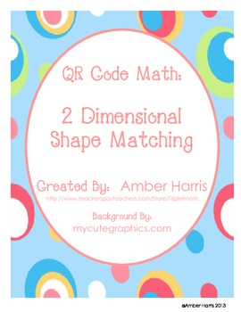 QR Code Math Geometry 2 Dimensional Shape Matching
