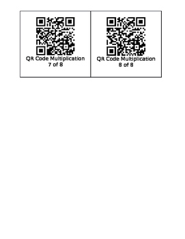 QR Code Math Multiplication Worksheet
