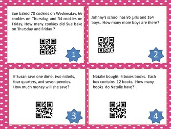 QR Code Math Posters ~ Task Cards