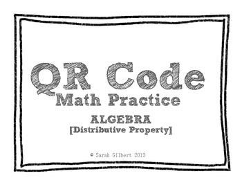 QR Code Math Practice [Algebra - Distribute & Solve]