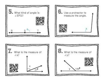 QR Code Math Practice [Angles]
