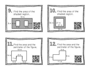 QR Code Math Practice [Area of Irregular Shapes]