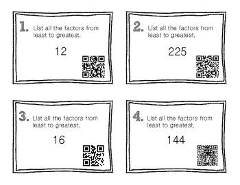 QR Code Math Practice [Factors]