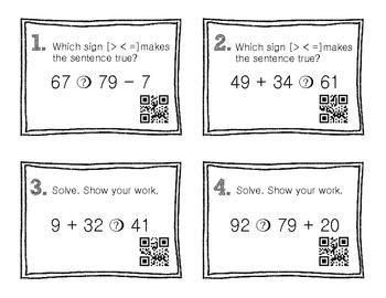 QR Code Math Practice [Inequalities-Add Subt Mult Div]