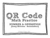 QR Code Math Practice [Long Division 1 Digit With 4 Digit Remainders]