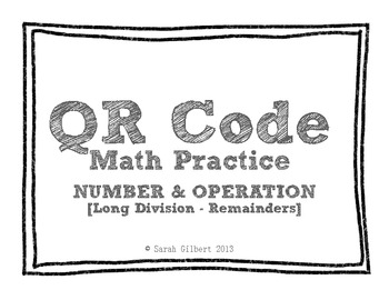 QR Code Math Practice [Long Division 1 Digit With 4 Digit Remainders]