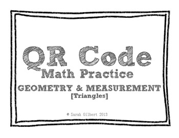 QR Code Math Practice [Triangles]