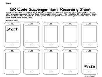 QR Code Scavenger Hunts: Grades 1 and 2 Math