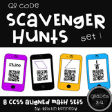QR Code Scavenger Hunts for Grades 3 and 4 (8 Sets, CC Ali