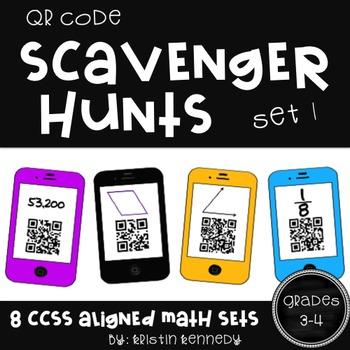 QR Code Scavenger Hunts for Grades 3 and 4 (8 Sets, CC Ali
