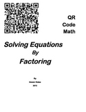 QR Code Math - Solving Equations by Factoring