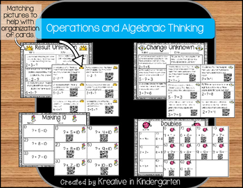 QR Code Math Task Cards- Operations and Algebraic Thinking (1st grade Edition)