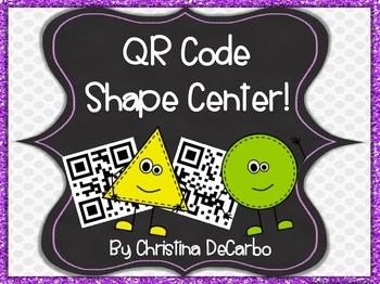 QR Code Math Task Cards: Shapes {A Freebie!}