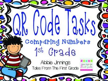 QR Code Math Tasks- Comparing Numbers- 1st Grade