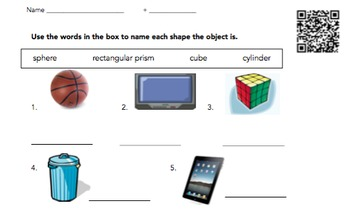 QR Code Math Warm-Up Pack 1: Number Sense and Geometry