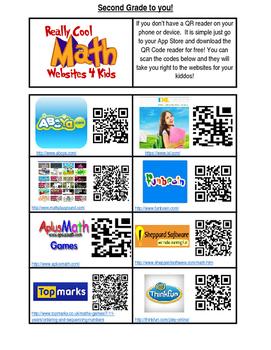 QR Code Math Websites: Bilingual
