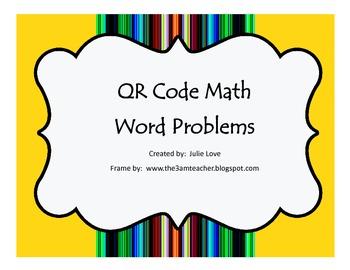 QR Code Math Word Problems-2nd Grade