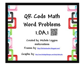 QR Code Math Word Problems