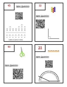 QR Code Measurement and Data Scavenger Hunt - Fourth Grade Common Core