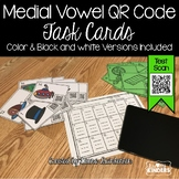 QR Code Medial Vowel Sound Activity Task Cards