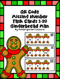 QR Code Missing Numbers 1-20 Gingerbread Man